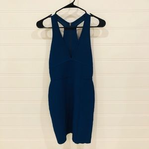 Navy Blue BCBG Zipper Dress